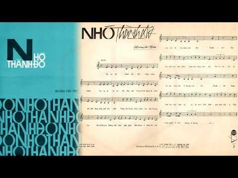 🎵 Nhớ Thành Đô (Hoàng Thi Thơ) Duy Khánh Pre 1975 | Tờ Nhạc Xưa