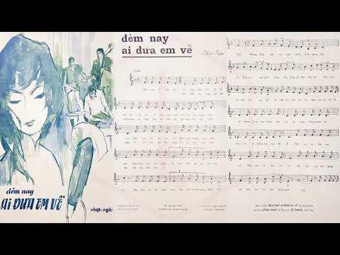🎵 Đêm Nay Ai Đưa Em Về (Nhật Ngân) Xuân Thu Pre 1975 | Tờ Nhạc Xưa