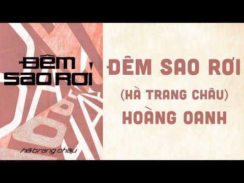🎵 Đêm Sao Rơi (Hà Trang Châu) Hoàng Oanh Pre 1975 | Bìa Nhạc Xưa